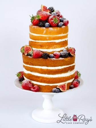 2 Tier Naked Cake with Fresh Berries