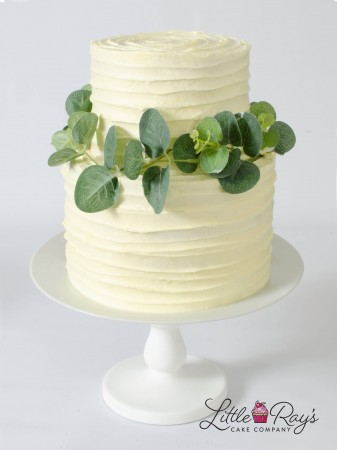 2 Tier Buttercream Swirl Foliage Cake