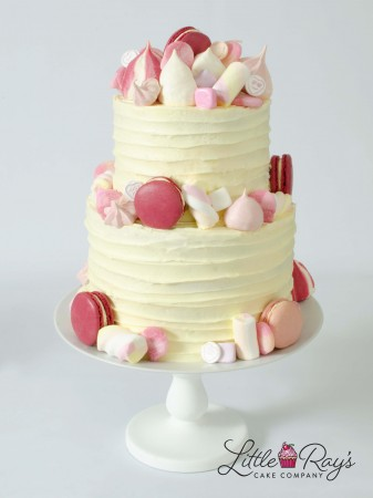 2 Tier Pretty in Pink Party Cake