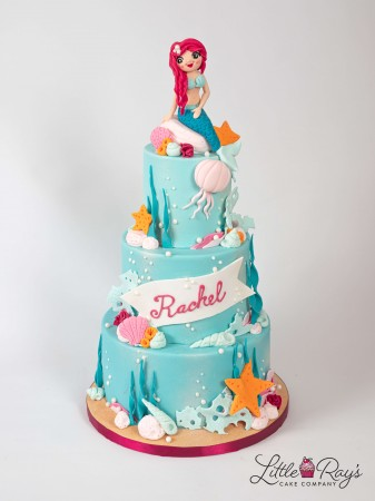 3 Tier Under The Sea Mermaid Cake
