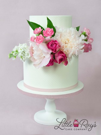 2 Tier Assorted Peony & Flowers Cake