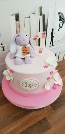 Cool Bunny Birthday Cake Heavenly Cakes Personalised Birthday Cards Veneteletsinfo