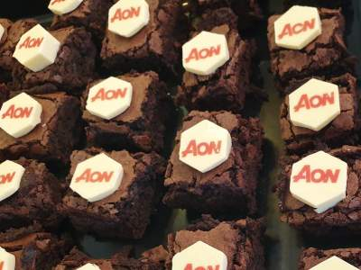 **Posted***  Corporate branded brownies