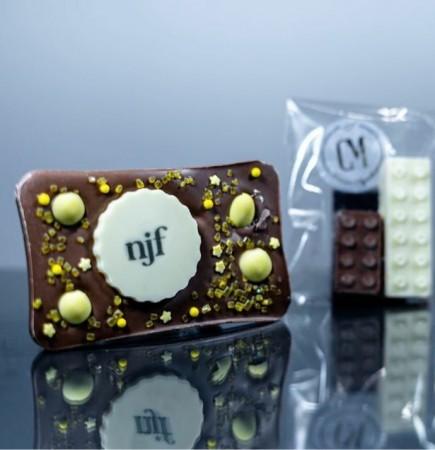 **Posted*** Branded chocolate slab bar