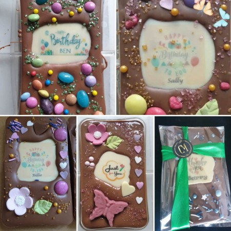 **Posted*** Personalised chocolate slab bar