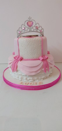 Sensational Birthday Cake Pink And White Dress Cake Jaynesjazzycakes Funny Birthday Cards Online Barepcheapnameinfo