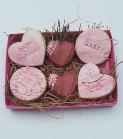 *Postal pink birthday box