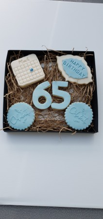 *Postal Birthday Date Biscuits