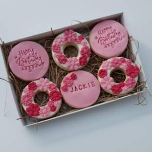 *Postal Flower Biscuits