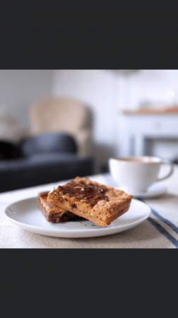 Peanut butter and chocolate blondies **POSTED**