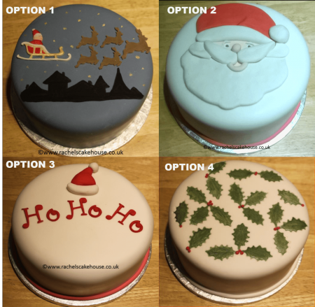 CHRISTMAS fruit cake choice of design- round- **POSTED**