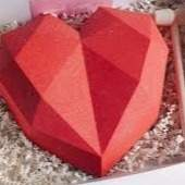 *Large Red chocolate geometric heart **POSTED**