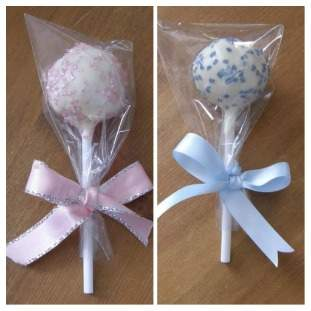 Pink, Blue or White Cake Pops * * POSTED* *