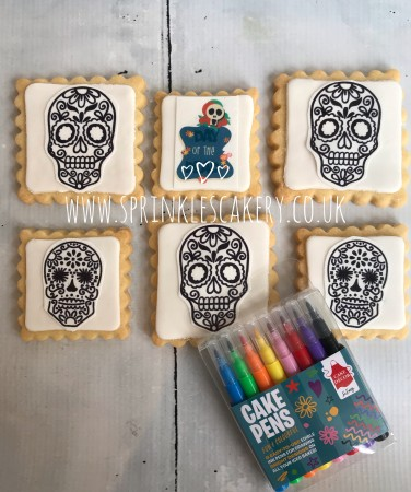 ***Postal*** Colour Your Own Sugar Skulls Biscuit Box