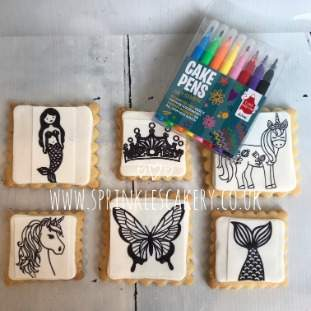 ***Postal*** Colour Your Own Fantasy Biscuit Box