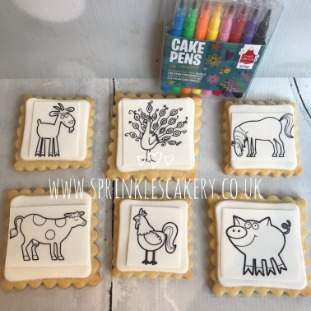 ***Postal*** Colour Your Own Farm Biscuit Box