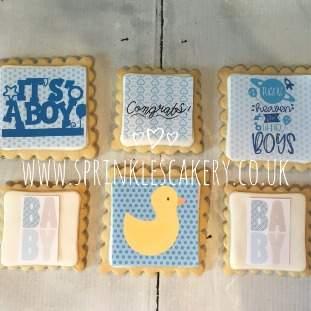 ***Postal*** Baby Boy Biscuit Box