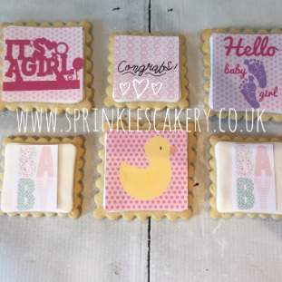 ***Postal*** Baby Girl Biscuit Box