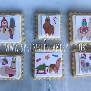 ***Postal*** Christmas Alpaca Biscuit Box