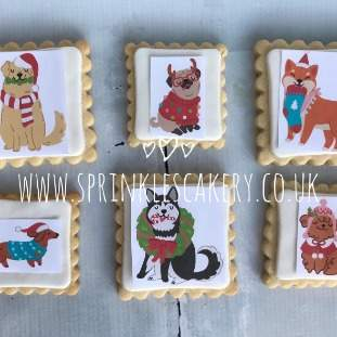 ***Postal*** Christmas Dogs Biscuit Box