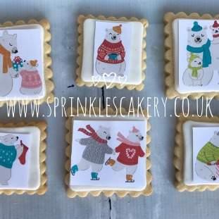 ***Postal*** Christmas Polar Bear Biscuit Box