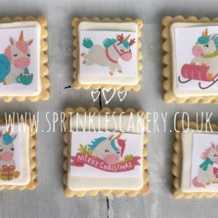 ***Postal*** Christmas Unicorn Biscuit Box