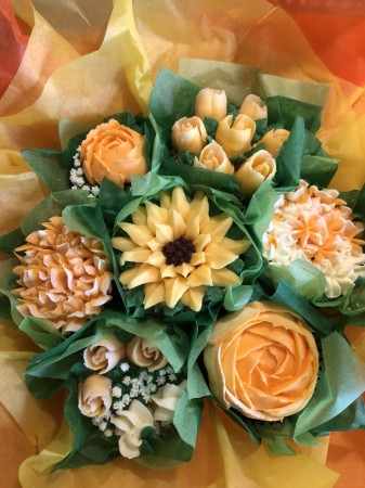 Cupcake Bouquet 7 12 Or 24 Yellow Goody S