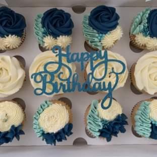 Elegant cupcakes by post