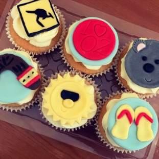 Australia theme cupcakes (posted)