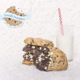 Dipped Dark chocolate cookies - *posted*
