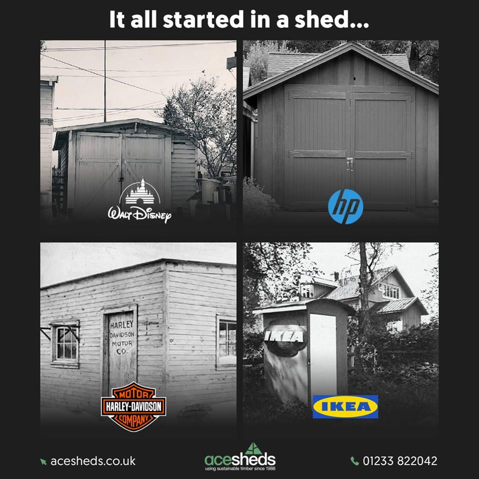 Seven of the Biggest Global Businesses that Started in a Garage/Shed