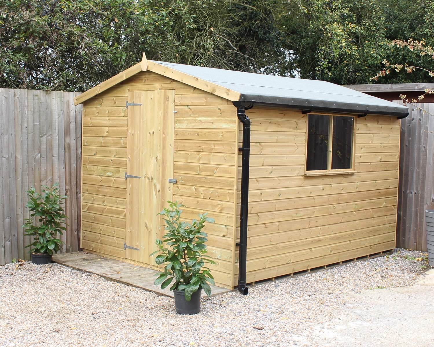 Kent Apex Pressure Treated Garden Shed