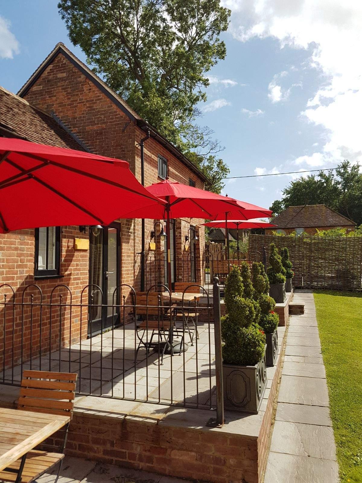 Sunny pub garden