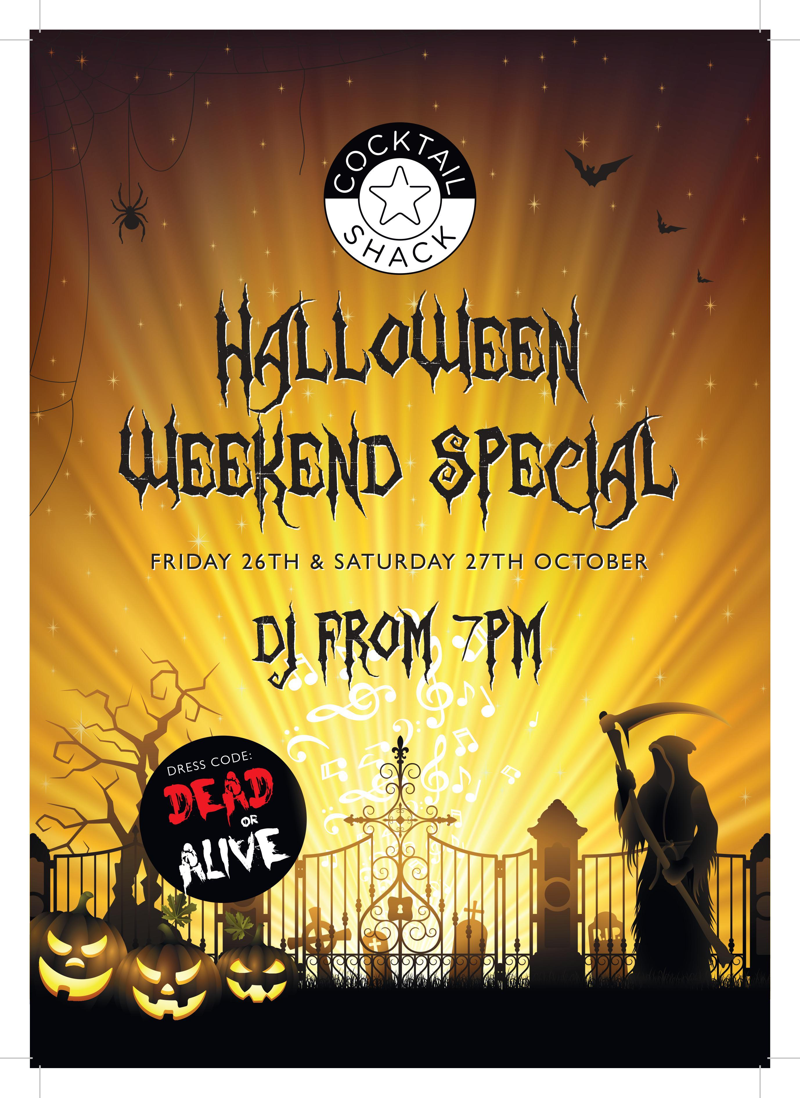 Halloween weekend special at The Cocktail Shack