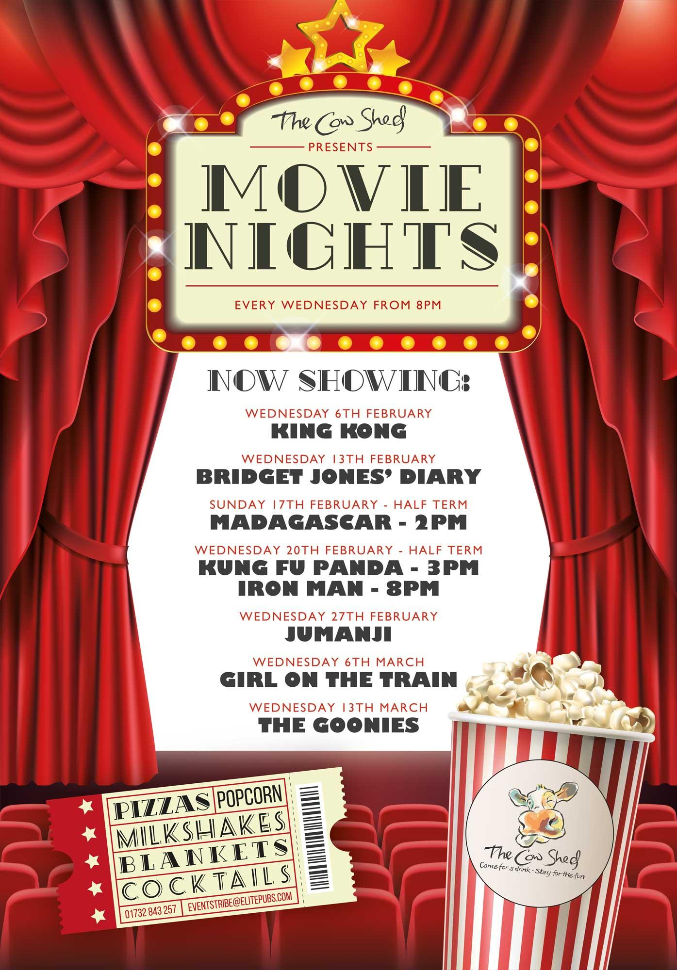 Movie nights at The Cow Shed