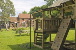 Play house in beer garden