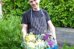 Fresh produce from garden