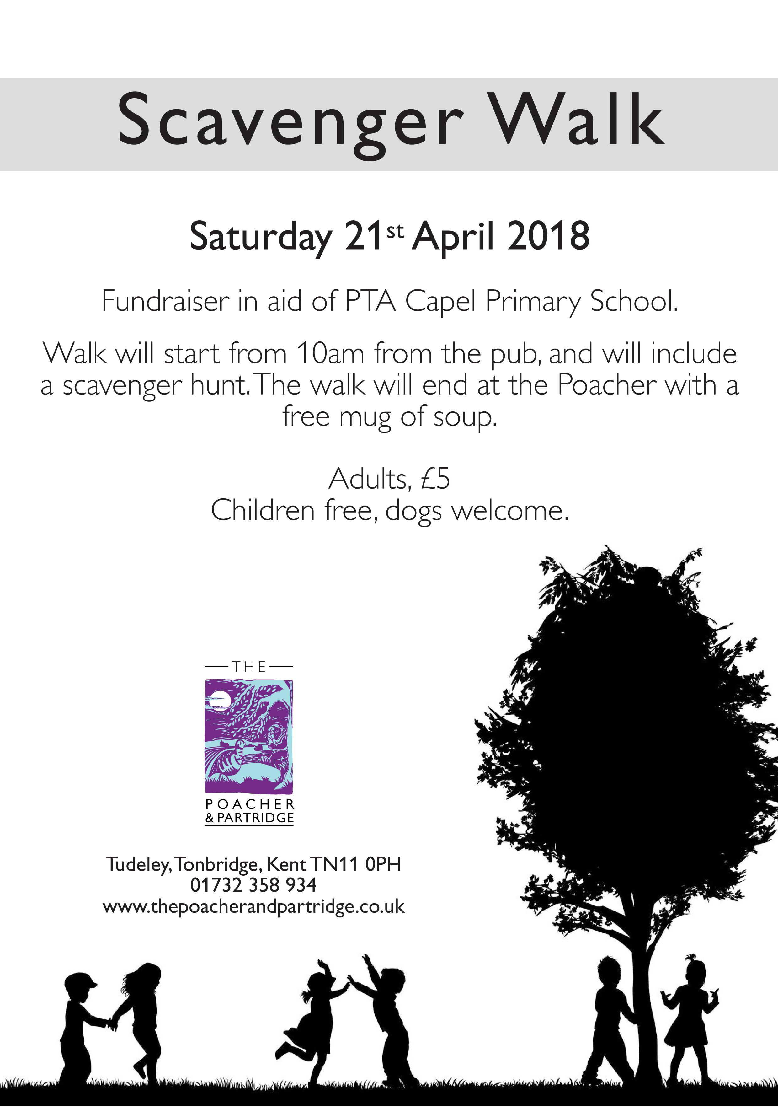 Fundraiser walk for the local primary school