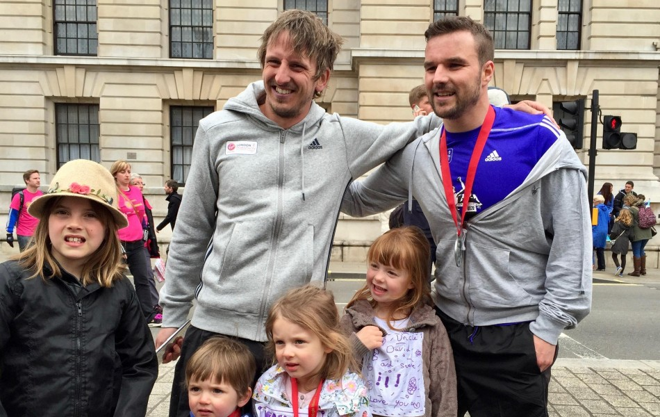 david-kosh-and-stevan-smith-london-marathon-2015