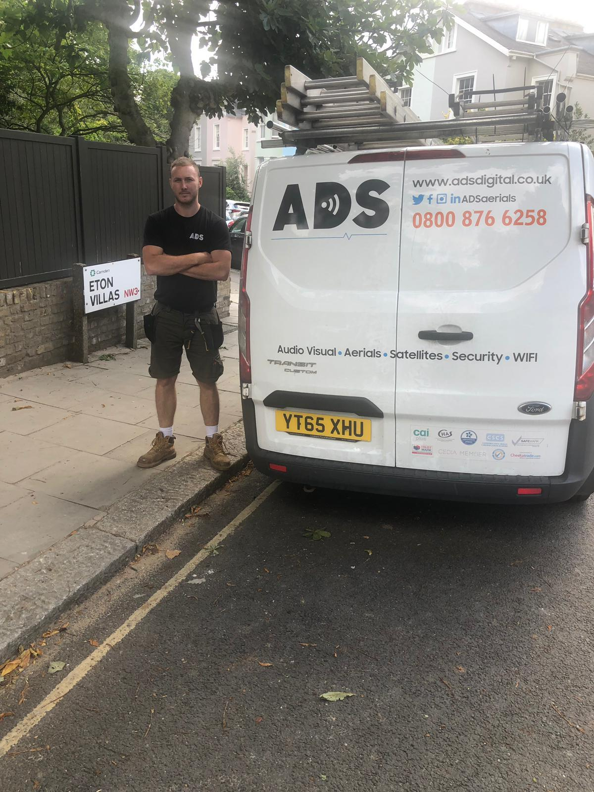 white-ads-van-and-engineer-nw-london